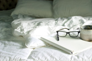 Journal on bed